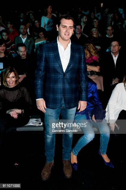 Albert Rivera is seen at the Ulises Merida show during the MercedesBenz Fashion Week Madrid Autumn/Winter 201819 at Ifema on January 27 2018 in...