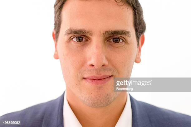 Albert Rivera leader of the Ciudadanos party poses for a photograph following an interview in Barcelona Spain on Monday Nov 9 2015 The promarket...