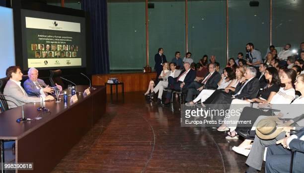 Albert Rivera Mario Vargas LLosa Isabel Preysler and Alvaro Vargas LLosa atttend XI Latin America Atlantic Forum organised by Fundacion para la...