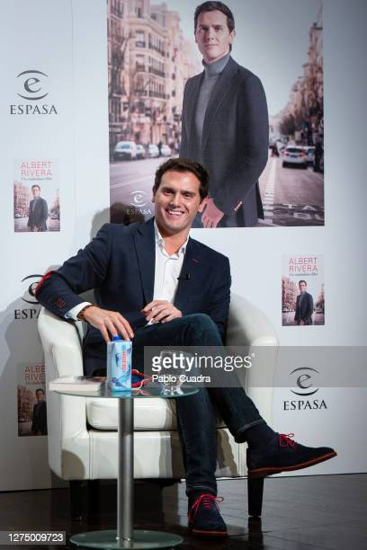 Albert Rivera presents his book 'Un Ciudadano Libre' on September 22 2020 in Madrid Spain