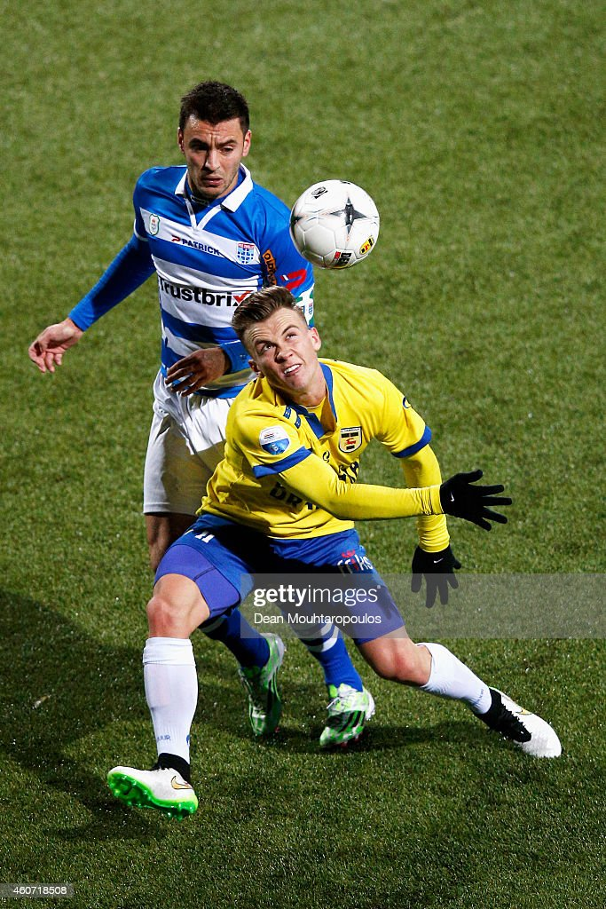 Albert Rusnak Of Cambuur And Bram Van Polen Of Zwolle Battle For The News Photo Getty Images