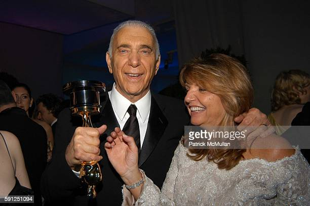 Albert S Ruddy and Wanda McDaniel attend Vanity Fair Oscar Party at Morton's Restaurant on February 27 2005 in Los Angeles California