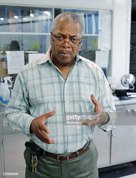 Albert Samuels, chief investigator with the Wayne County Medical Examiner's office, speaks at the morgue in Detroit, Michigan, U.S., on Wednesday,...