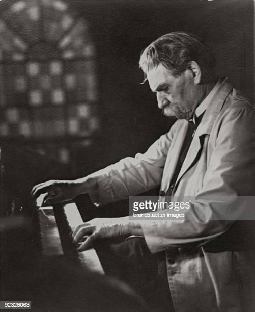 Albert Schweitzer plays Bach Photograph Around 1950