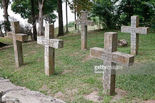 Albert Schwietzers grave Lambarene Gabon