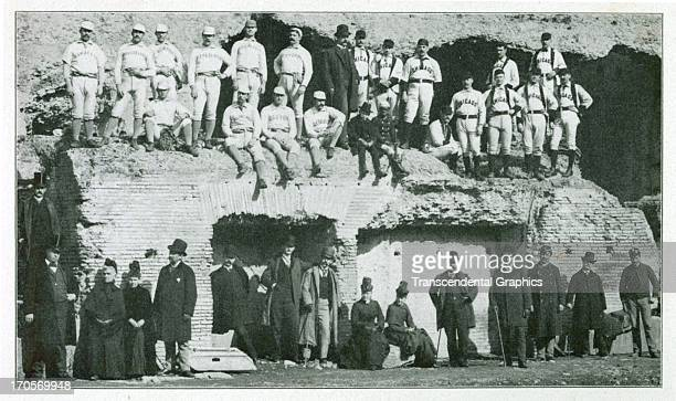 ROME ITALY NOVEMBER 1888 Albert Spalding is leading a round the world tour with two teams of major league ball players and this photograph finds the...