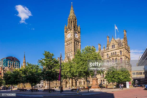 albert square, the town hall - town hall stock pictures, royalty-free photos & images