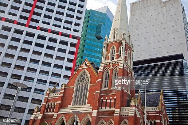 Albert Street Uniting Church formerly a Methodist Wesleyan Chapel in the center of Brisbane capital city of Queensland Australia