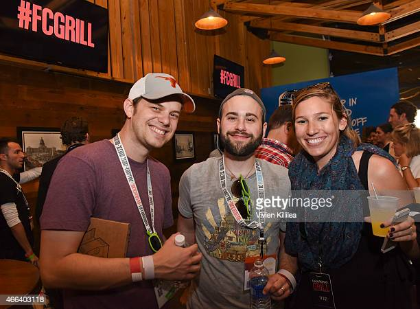 Albert Swantner Garrett Vance and Kate Daly attend the Fast Company Grill During SXSW Day 1 on March 14 2015 in Austin Texas