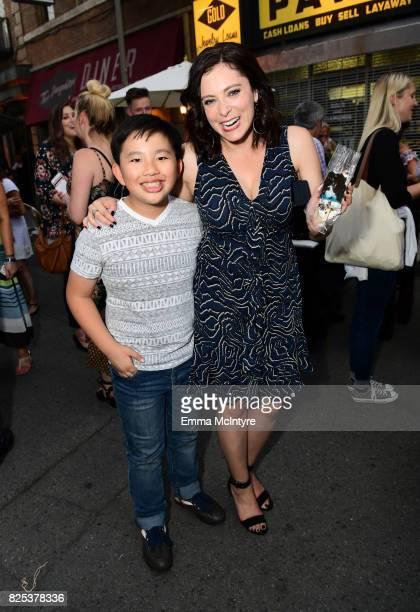 Albert Tsai and Rachel Bloom attend the 2017 Summer TCA Tour CBS Television Studios' Summer Soiree at CBS Studios Radford on August 1 2017 in Studio...