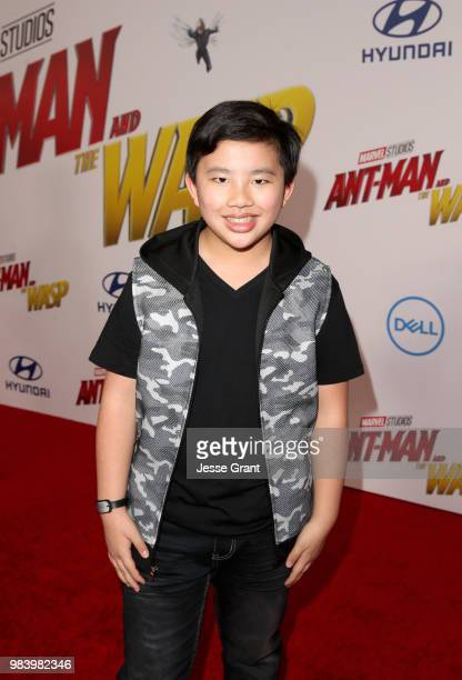 Albert Tsai attends the Los Angeles Global Premiere for Marvel Studios' 'AntMan And The Wasp' at the El Capitan Theatre on June 25 2018 in Hollywood...