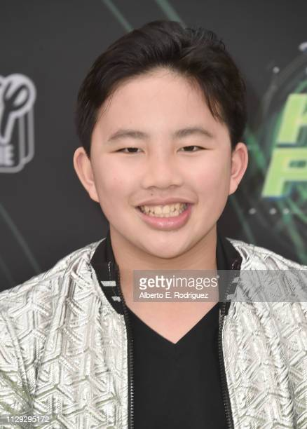 Albert Tsai attends the premiere of Disney Channel's Kim Possible at The Television Academy on February 12 2019 in Los Angeles California