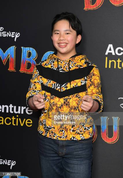 Albert Tsai attends the premiere of Disney's 'Dumbo' at El Capitan Theatre on March 11 2019 in Los Angeles California