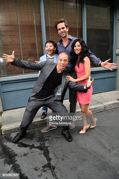 Albert Tsai Matt Murray David Walton and Liza Lapira attend the 2017 Summer TCA Tour CBS Television Studios' Summer Soiree at CBS Studios Radford on...