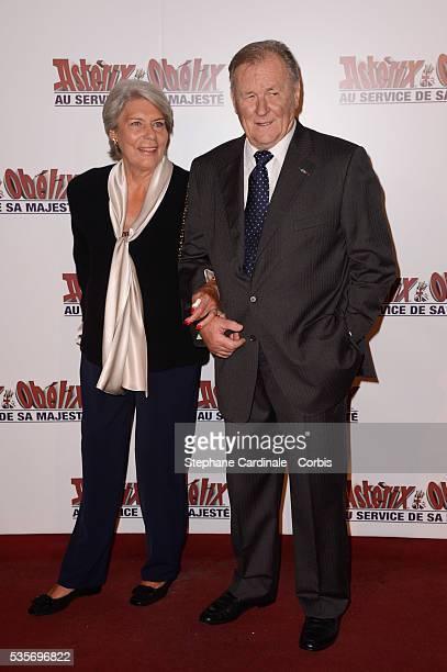 Albert Uderzo and his wife Ada attend the premiere of Asterix & Obelix: Au Service De Sa Majeste, at Le Grand Rex Cinema in Paris.