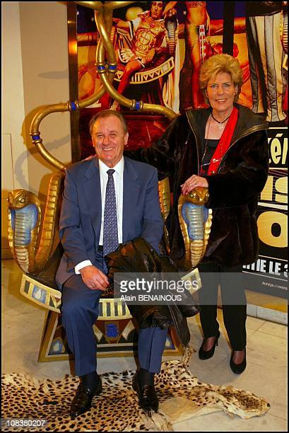 Albert Uderzo and wife in Paris France on January 28 2002