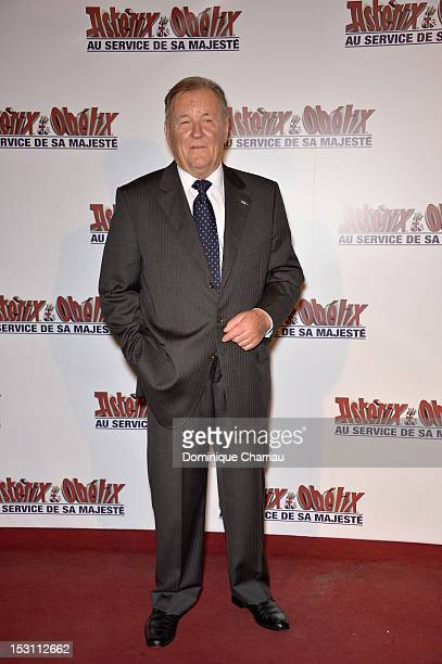 Albert Uderzo attends 'Asterix Obelix Au Service De Sa Majeste' at Le Grand Rex on September 30 2012 in Paris France