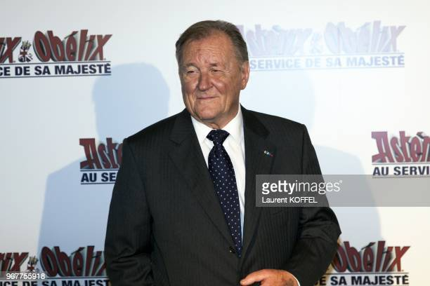 Albert Uderzo attends at 'Asterix et Obelix au service de sa majeste' film premiere at 'Le Grand Rex' on September 30 2012 in Paris France