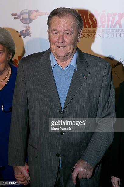 Albert Uderzo attends the 'Asterix Le Domaine des Dieux' Premiere at Le Grand Rex on November 23 2014 in Paris France
