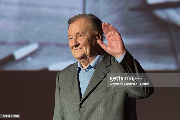 Albert Uderzo attends the 'Asterix Le Domaine des Dieux' Premiere at Le Grand Rex on November 23 2014 in Paris France