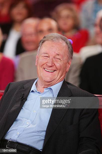 Albert Uderzo attends Vivement Dimanche Tv show on October 3 2012 in Paris France