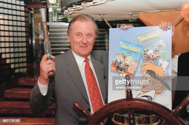 Albert Uderzo presents a new comic strip entitled 'Jehan Pistolet Corsaire du Roi'Paris 22nd September 1998