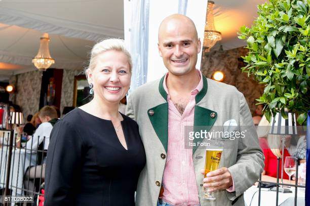 Albert von Thurn und Taxis and guest during the Amy McDonald concert at the Thurn Taxis Castle Festival 2017 on July 17 2017 in Regensburg Germany