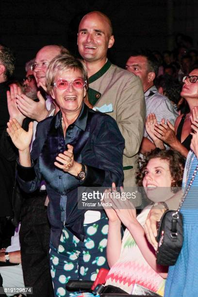 Albert von Thurn und Taxis and his mother Gloria von Thurn und Taxis and his cousin Pilar von SchoenburgGlauchau during the Haindling concert at the...