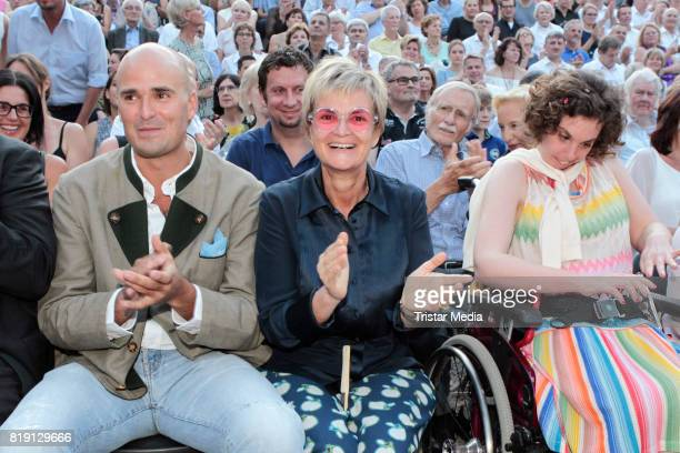 Albert von Thurn und Taxis his mother Gloria von Thurn und Taxis and his cousin Pilar von SchoenburgGlauchau during the Haindling concert at the...