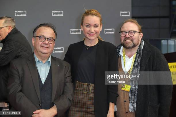 Albert Wiederspiel Lisa Maria Potthoff and Gustav Peter Woehler attend the Film Festival Hamburg 2019 on September 30 2018 in Hamburg Germany