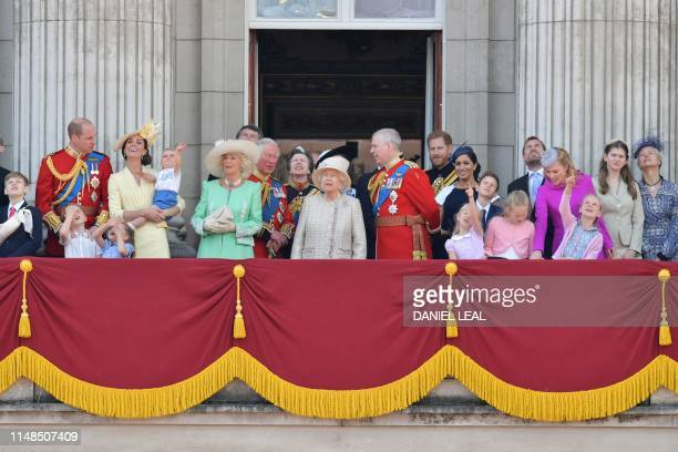 Albert Windsor Britain's Prince William Duke of Cambridge holding Prince Louis Prince George Princess Charlotte Britain's Catherine Duchess of...