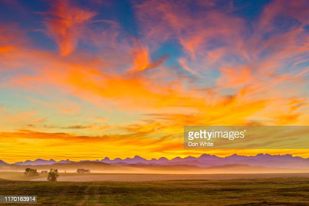 alberta canada countryside - alberta stock pictures, royalty-free photos & images