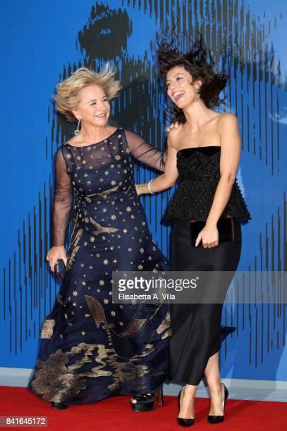 Alberta Ferretti and Alessandra Mastronardi attend the Franca Sozzanzi Award during the 74th Venice Film Festival on September 1 2017 in Venice Italy