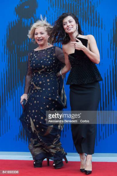 Alberta Ferretti and Alessandra Mastronardi attend the The Franca Sozzani Award during the 74th Venice Film Festival at Sala Giardino on September 1...