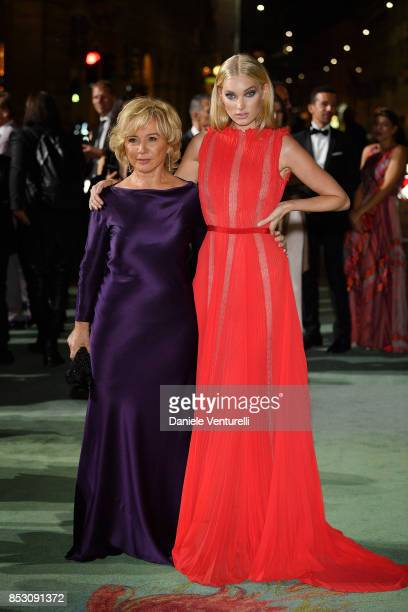 Alberta Ferretti and Elsa Hosk attend the Green Carpet Fashion Awards Italia 2017 during Milan Fashion Week Spring/Summer 2018 on September 24 2017...