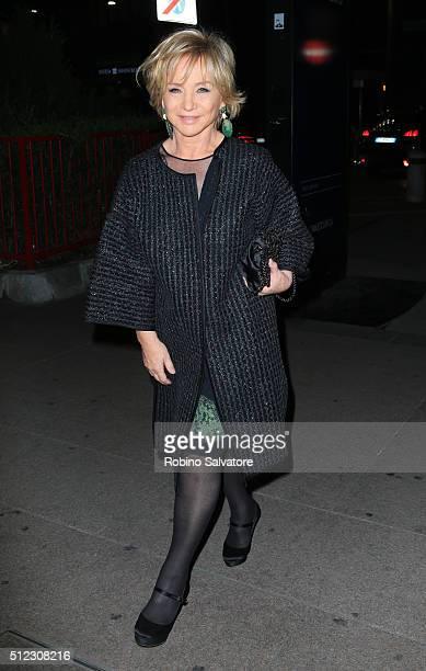 Alberta Ferretti arrives at Vogue Dinner for Instagram at Giacomo Arengario Restaurant in Piazza Duomo Milan
