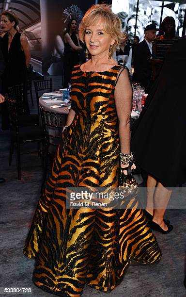 Alberta Ferretti attends British Vogue's Centenary gala dinner at Kensington Gardens on May 23 2016 in London England