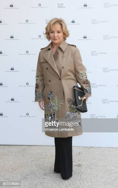 Alberta Ferretti attends 'Italiana L'Italia Vista Dalla Moda 19712001' exhibition preview during Milan Fashion Week Fall/Winter 2018/19 at Palazzo...