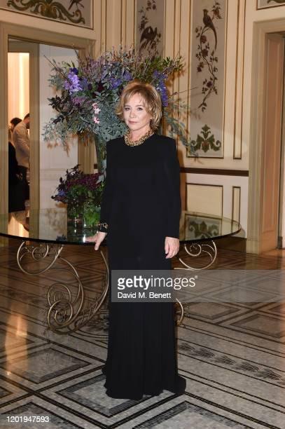 Alberta Ferretti attends the Alberta Ferretti after party during Milan Fashion Week Fall/Winter 20202021 at Palazzo Donizetti on February 19 2020 in...