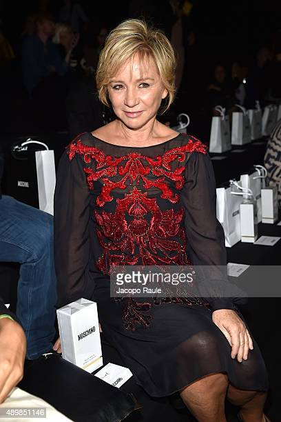 Alberta Ferretti attends the Moschino show during the Milan Fashion Week Spring/Summer 2016 on September 24 2015 in Milan Italy
