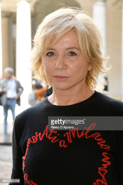 Alberta Ferretti attends the Philosophy By Lorenzo Serafini show during Milan Fashion Week Spring/Summer 2018 on September 23 2017 in Milan Italy