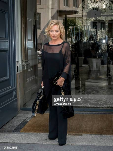 Alberta Ferretti is seen in front of Alberta Ferretti showrooms during Milan Fashion Week Spring/Summer 2019 on September 21 2018 in Milan Italy