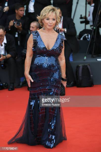 Alberta Ferretti walks the red carpet ahead of the Opening Ceremony and the La Vérité screening during the 76th Venice Film Festival at Sala Grande...