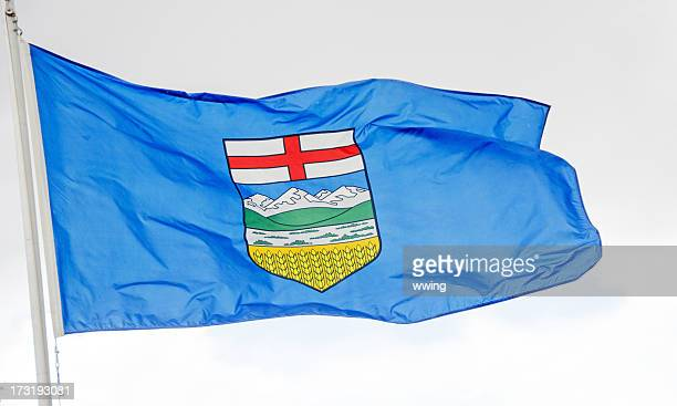 alberta flag - alberta stock pictures, royalty-free photos & images