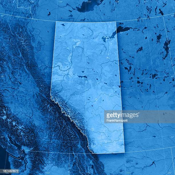 alberta topographic map - alberta stock pictures, royalty-free photos & images