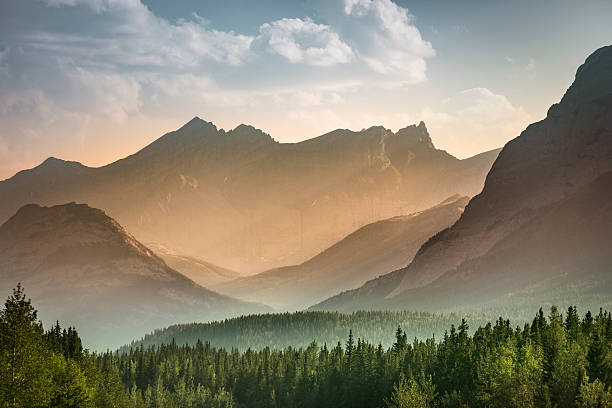 alberta wilderness near banff - horizontal stock pictures, royalty-free photos & images