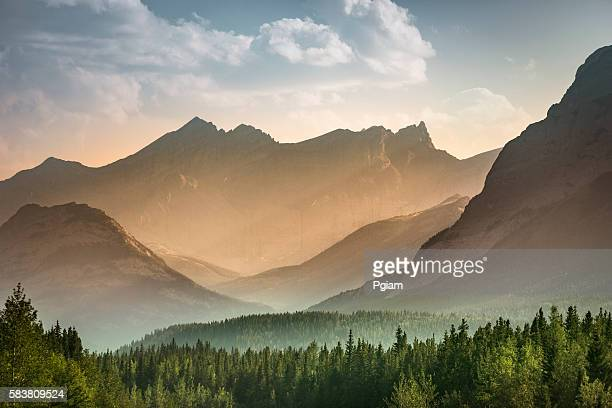 alberta wilderness near banff - landscape scenery stock photos and pictures