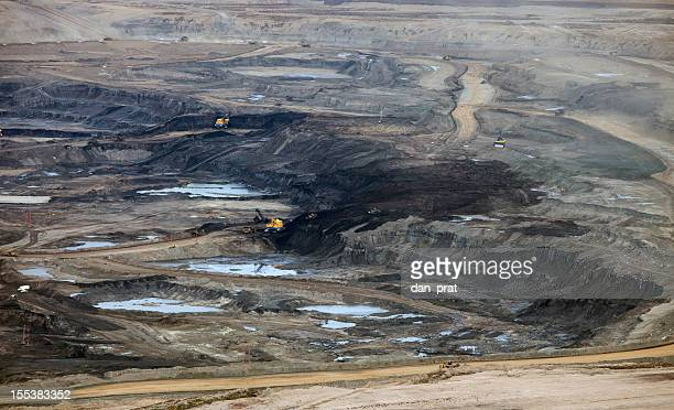 alberta's oilsands - oil sands stock pictures, royalty-free photos & images