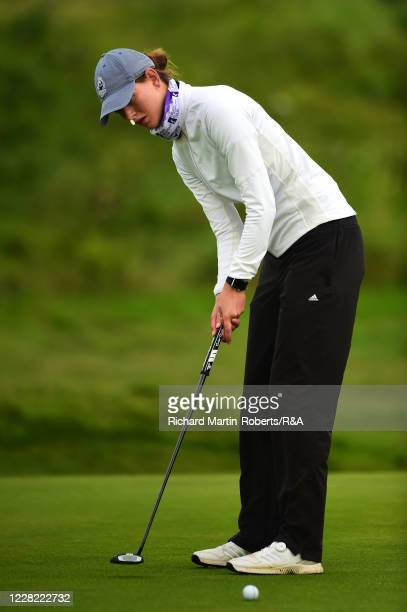Alberte Hallberg Thuesen of Denmark putts during Round 1 of Matchplay on Day Three of The Women's Amateur Championship at The West Lancashire Golf...