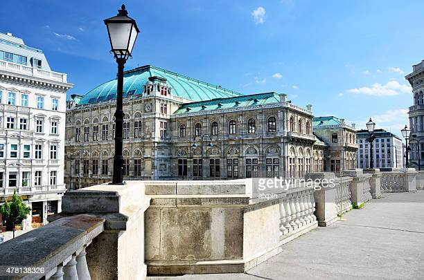 albertinaplatz, vienna - vienna state opera stock pictures, royalty-free photos & images